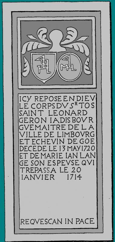 1714 1720 pierre tombale limbourg geron lange marie