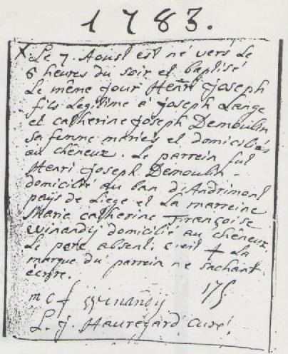 1783 naissance henri lange reg par chaineux