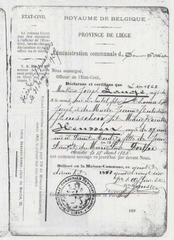 1886 mariage lange math jos henssen