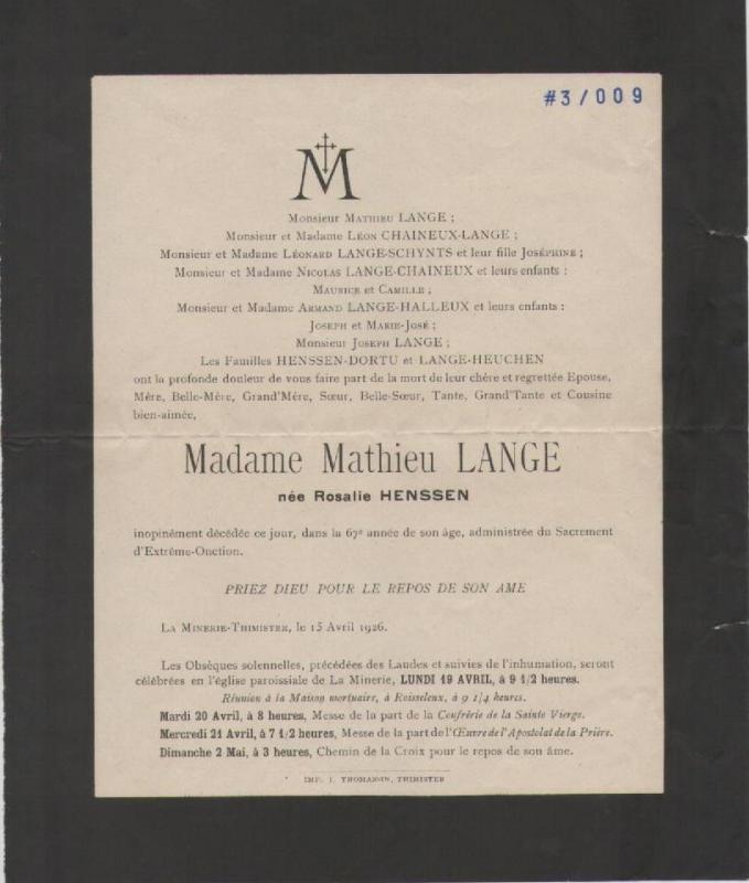 1926 deces rosalie henssen 2