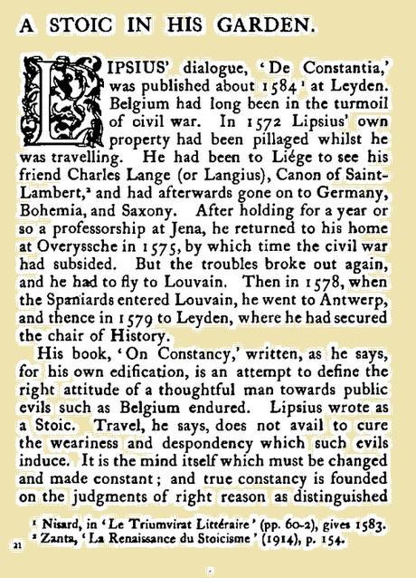 A stoic in his garden histoire de la visite de juste lipse a charles langius et pillage de son domicile pendant son voyage