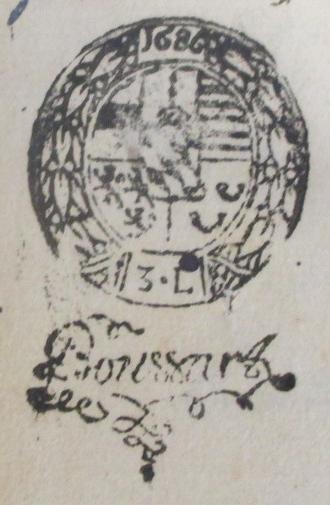 Acte 1686 remouchamps sceau princ liege