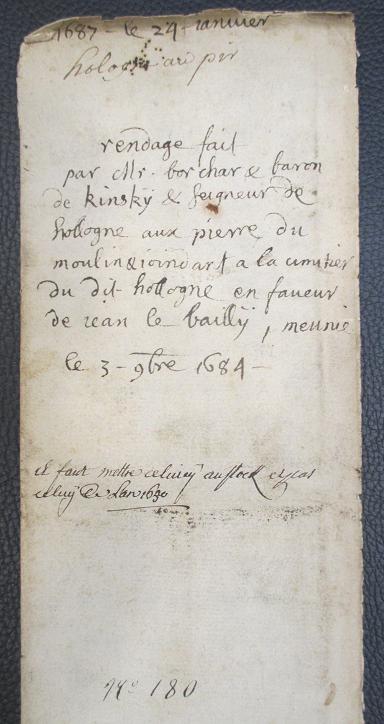 Acte 3 11 1684 moulin hollogne aux pierres