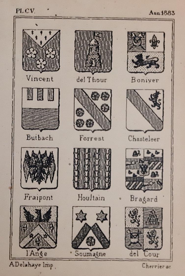 Armorial vincent 1883 borel d hauterive