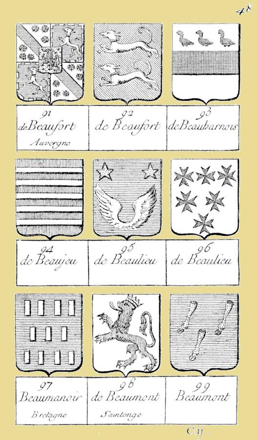 Beaulieu champagne armorial dubuisson 1757