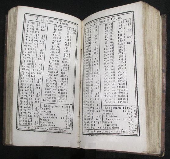 Compte fait 1807 barreme liste valeurs