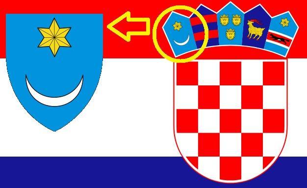 Croatie armoiries blason gauche couronne