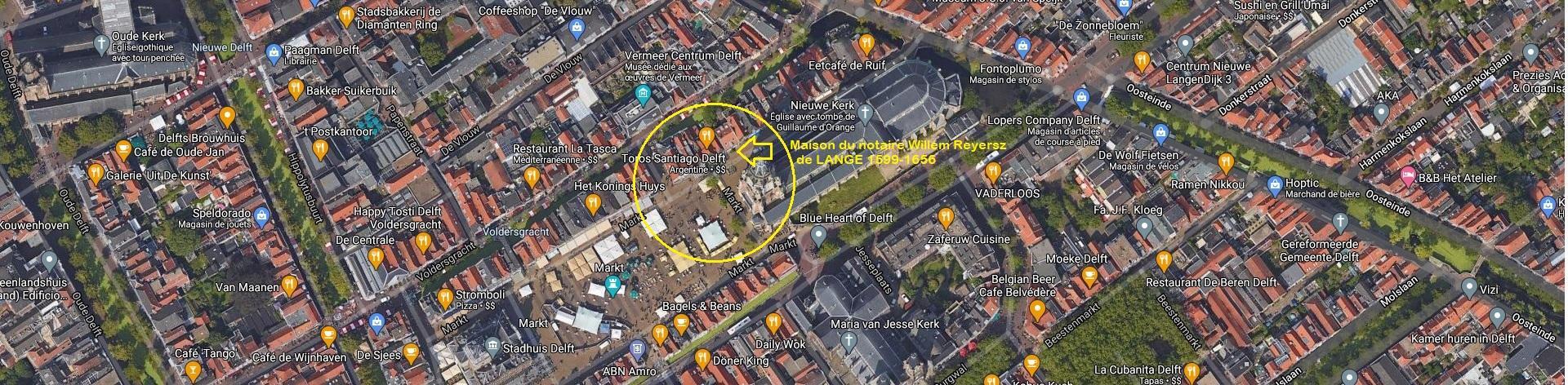 Delft grote markt vue satellite