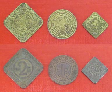 Gand 2f 1f 50c 1916