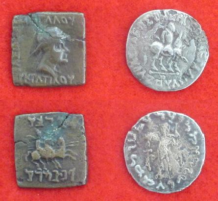 Indo grec eucratides et indo scythe azesii