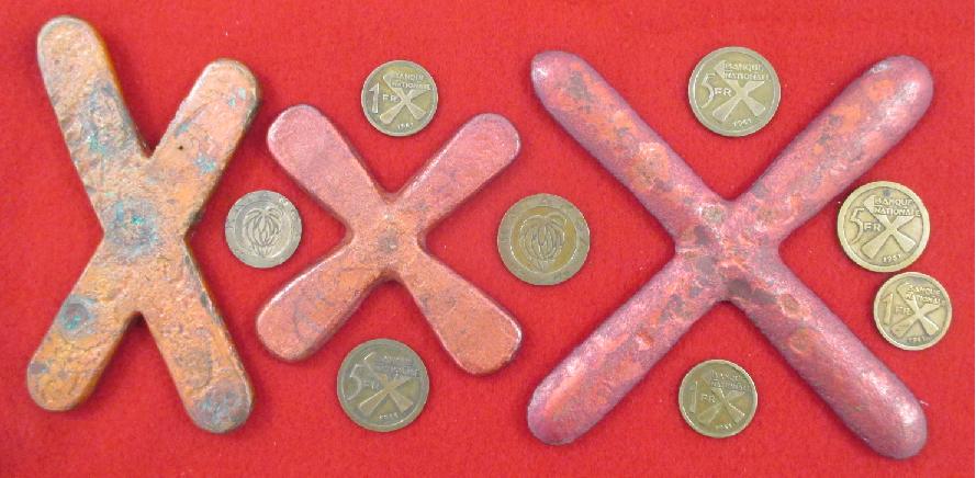 Katanga independant monnaies et croisettes umhk