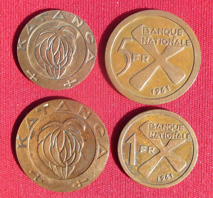 Katanga un et cinq francs