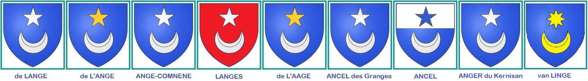 Kluster heraldique ange lange ancel etc