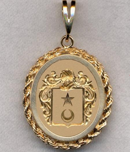 Lange blason d apres burke s general armory bijoux vendus a new york