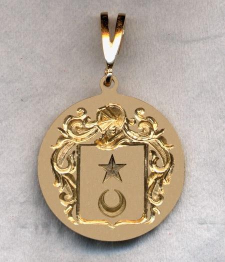 Lange blason d apres burke s general armory pendentif vendu a new york