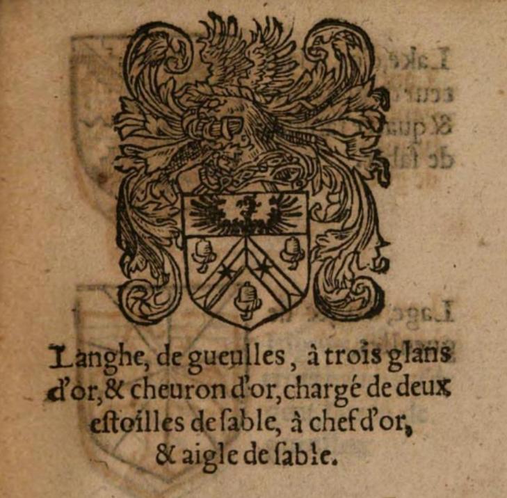 Langhe armoiries gand 1567 jean lautte