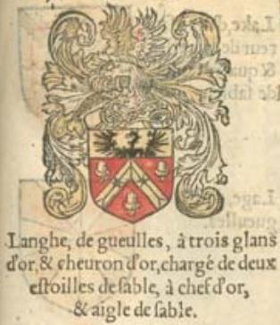 Langhe armoiries jardin d armoiries jean lautte gand 1567