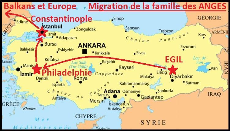 Migration de la famille des anges