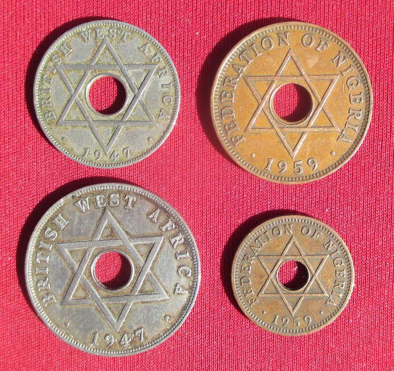 Nigeria monnaies coloniales britanniques