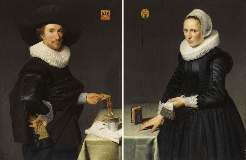 Notaire 1625 willem de lange et son epouse