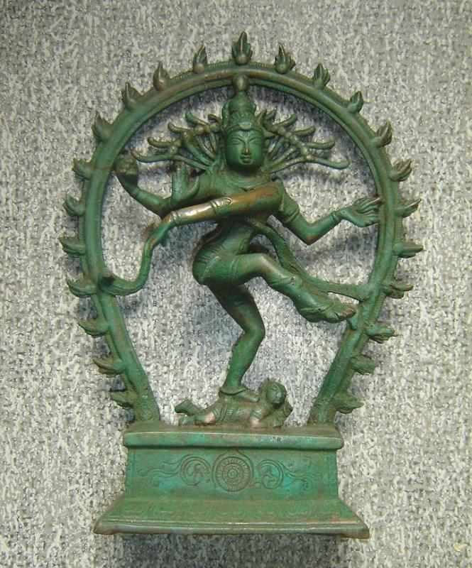 Shiva vert de gris