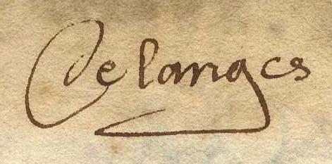 Signature nicolas de langes