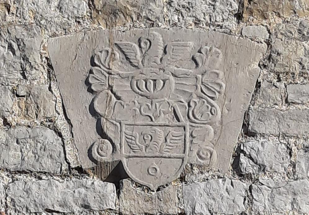 Stembert hubin de stembert blason mur eglise