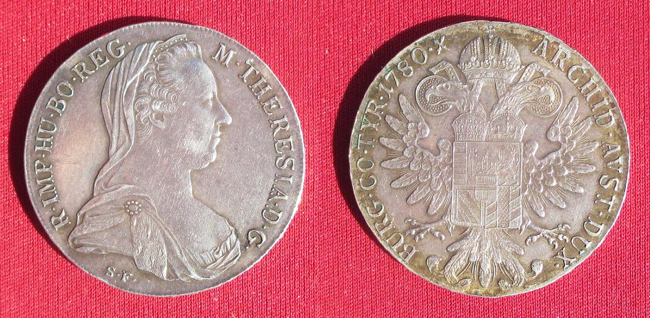Thaler marie therese 1780 refrappe