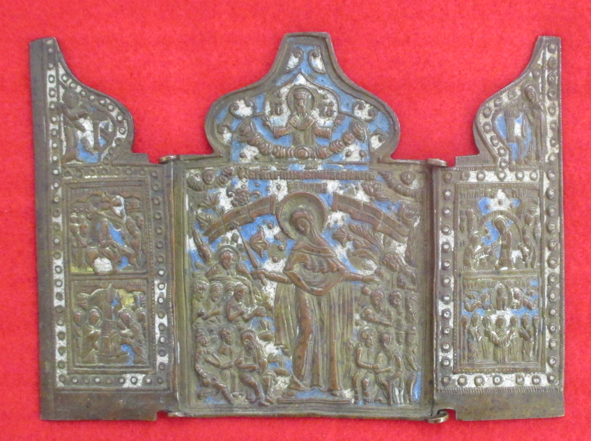 Triptyque russe emaille