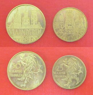 Vlaanderen 50f 25f 1985 1987